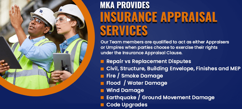 MKA provides Insurance Appraisal Services